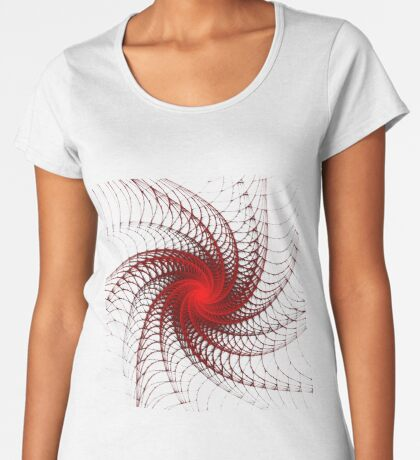 Red Propeller Planet Premium Scoop T-Shirt