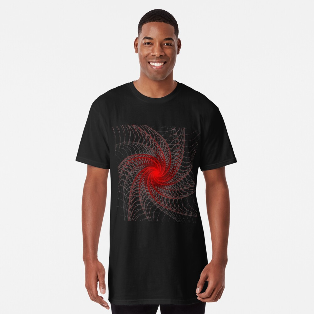 Red Propeller Planet Long T-Shirt Front