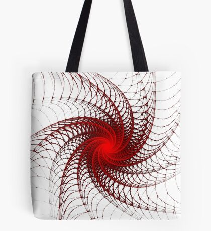 Red Propeller Planet Tote Bag