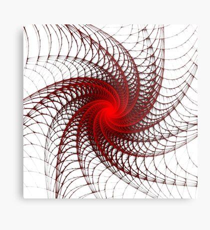 Red Propeller Planet Metal Print
