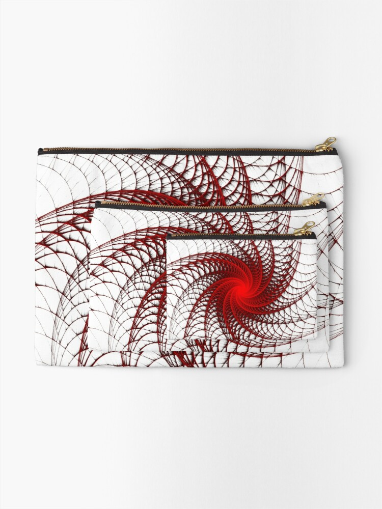 Alternate view of Red Propeller Planet Zipper Pouch