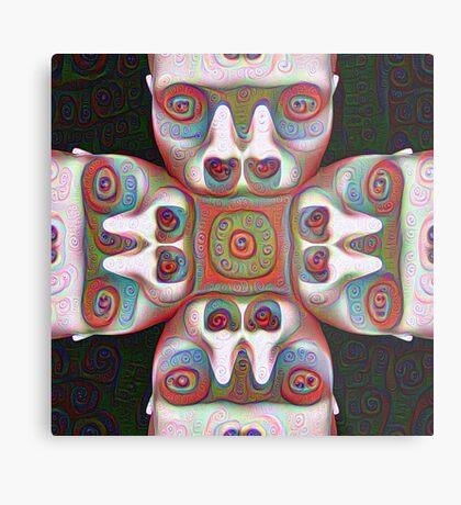 #DeepDream Masks 5x5K v1455625554 Metal Print