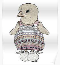 Little Chicken Knit Poster