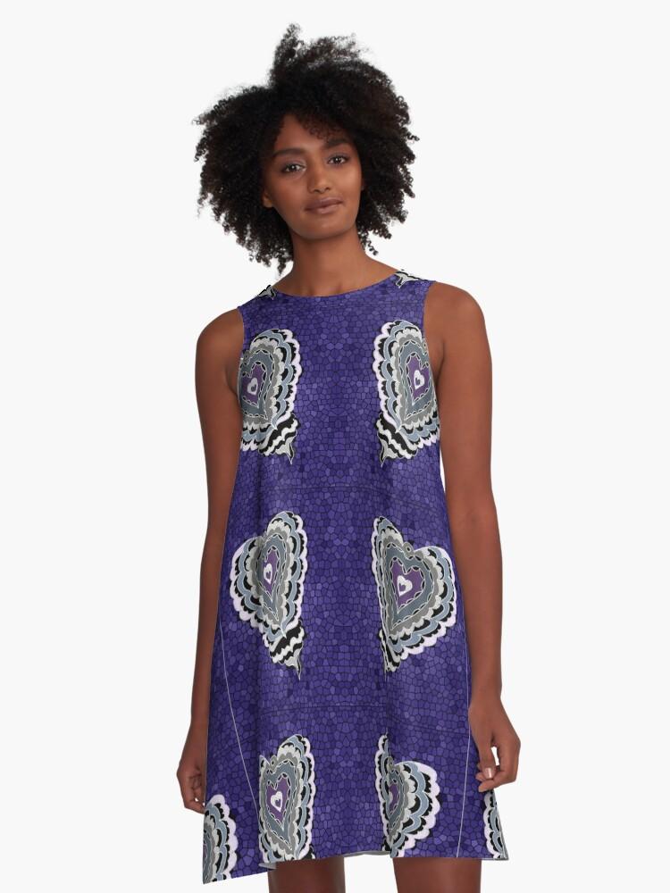 Tiled Heart A-Line Dress Front