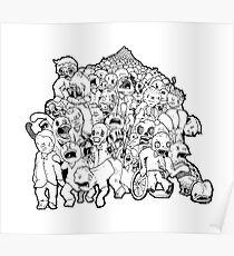 Zombie mob Poster