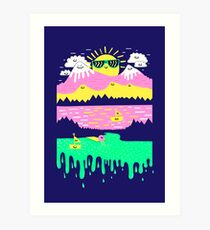 Happy Lake Art Print