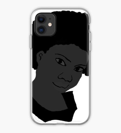 Natural Hair Afro Black & White Afro Tshirt iPhone Case