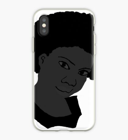 Natürliches Haar Afro Black & White Afro Tshirt iPhone-Hülle & Cover