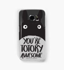 Minimalist Tototro + Typography Samsung Galaxy Case/Skin