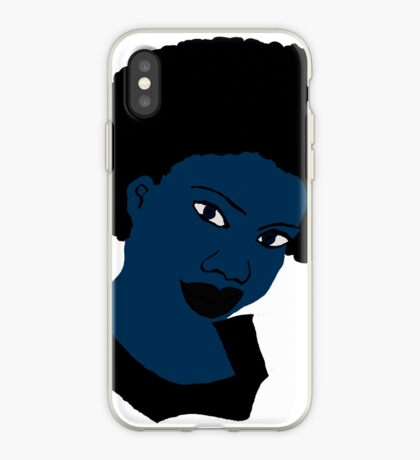Afro-Blau Natural Hair Women iPhone-Hülle & Cover
