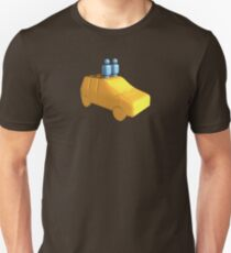 Blue Peg People in a Car Unisex T-Shirt