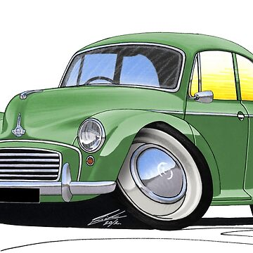 Morris Minor Green by yeomanscarart