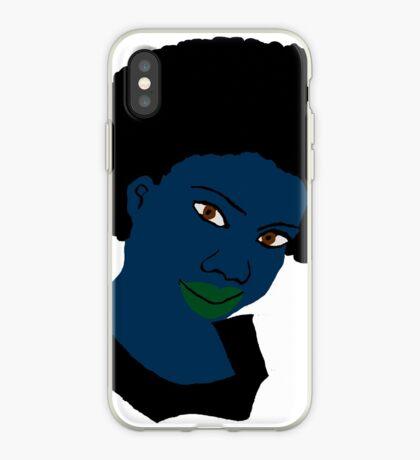 Schöne Liebe Afroblue Hair Green Lippen iPhone-Hülle & Cover