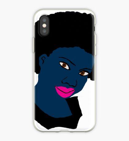 Schöne Liebe Ihre Fro Black Brown Eyes PinkLips iPhone-Hülle & Cover