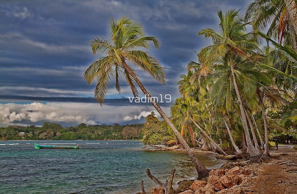 Panama. Bocas del Toro. Colon Island. The beach. by vadim19