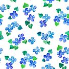 Little Blue Flower Love by micklyn