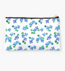 Little Blue Flower Love Studio Pouch