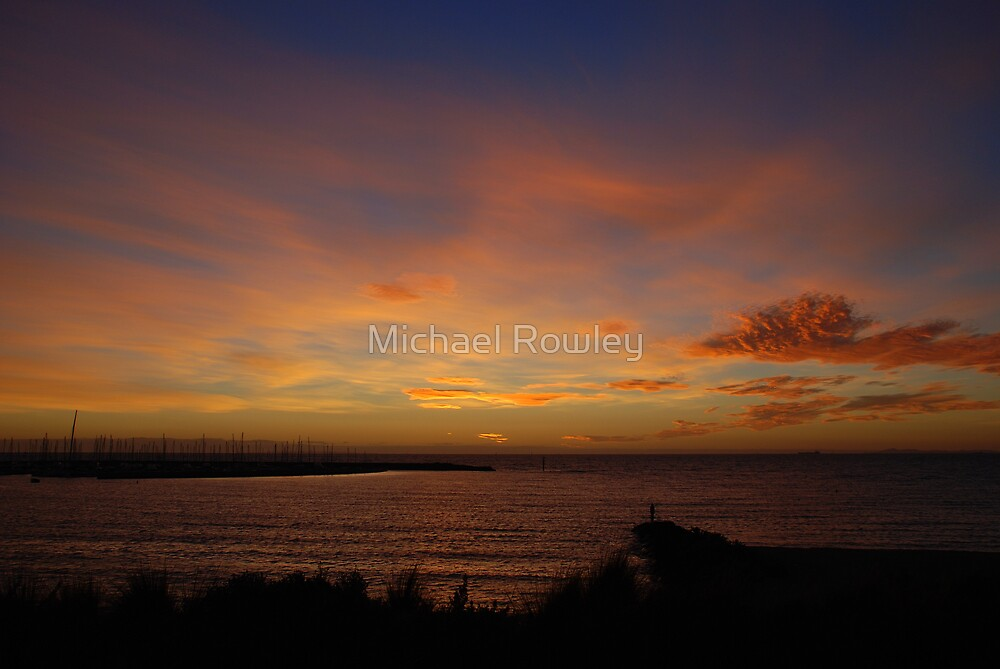 Sunset over Brighton by Michael Rowley
