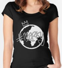 #MERKY GLOBE - STORMZY BLACK Women's Fitted Scoop T-Shirt