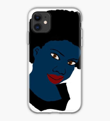 Beautiful Love Your Afro Black Brown Eyes Red Lips iPhone Case