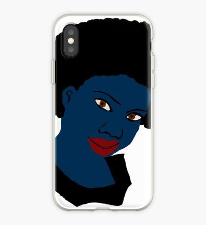 Schöne Liebe Ihre Afro Black Brown Eyes Red Lippen iPhone-Hülle & Cover