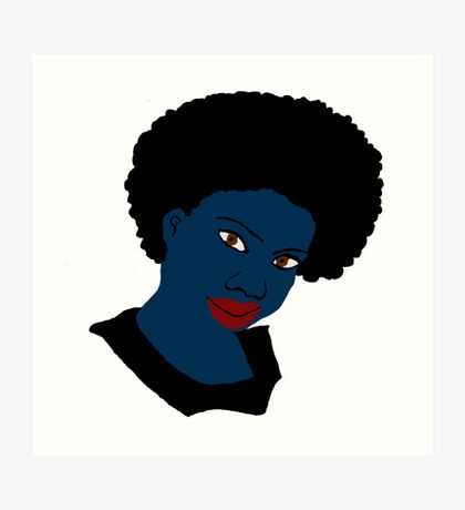 Beautiful Love Your Afro Black Brown Eyes Red Lips Art Print