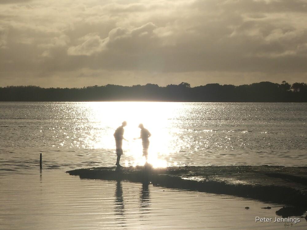 Caloundra,Early Morning Fishing by Peter Jennings