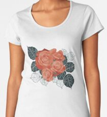 Red Roses Vintage Bouquet #RBSTAYCAY #redbubble Women's Premium T-Shirt