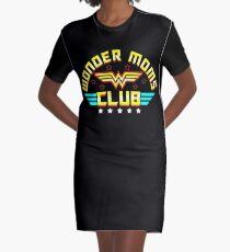 Wonder Mom's Club Graphic T-Shirt Dress