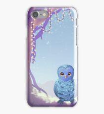 Blue Barn Owl iPhone Case/Skin