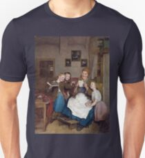 Ferdinand Georg Waldmüller Grandmother with Three Grandchildren Unisex T-Shirt