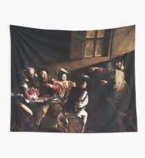 Caravaggio The Calling of Saint Matthew Wall Tapestry