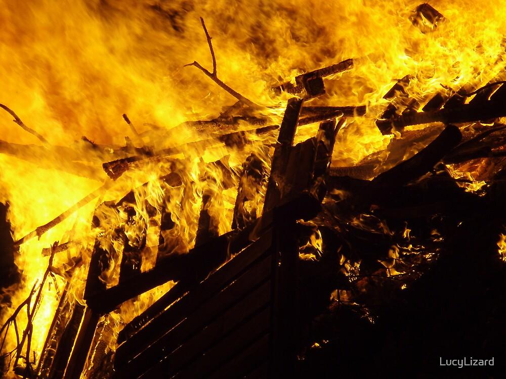 Fire Gazing by LucyLizard