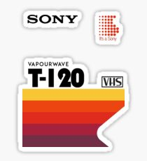 SONY VHS Sticker