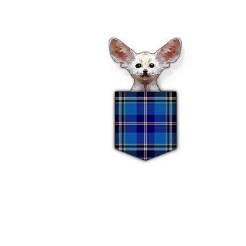 Cute Fennec in Pocket T-Shirt by Bubolina
