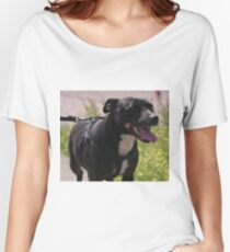 Happy Staffie Women's Relaxed Fit T-Shirt
