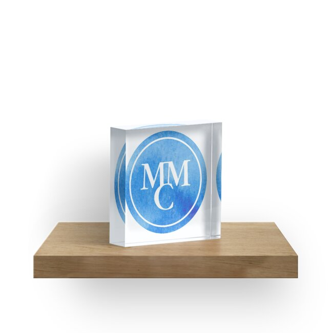 Marymount Manhattan College Blue Watercolor Acrylic Blocks By Bb