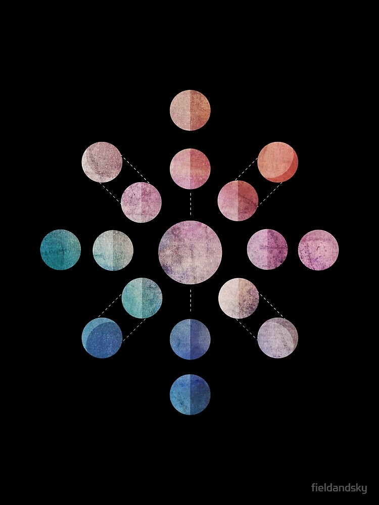 Lunar Cycle (Dark) by fieldandsky