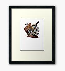 Sam & Max - Door Art Framed Print