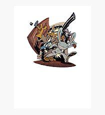 Sam & Max - Door Art Photographic Print
