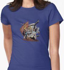 Sam & Max - Door Art Womens Fitted T-Shirt