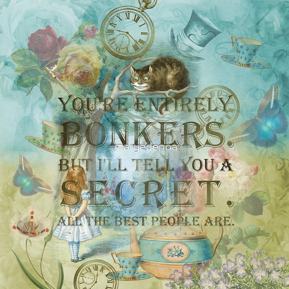«Wonderland - Bonkers Quote» de maryedenoa