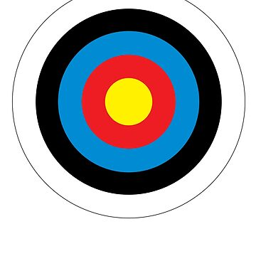 Bulls Eye, Archery, Target, Roundel, Shooting, Hit, Mod, on White by TOMSREDBUBBLE