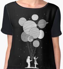 Between planets and balloons. Chiffon Top