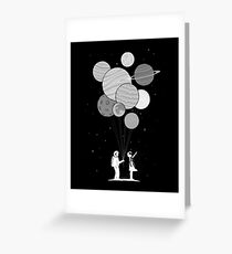 Between planets and balloons. Greeting Card