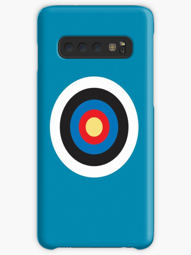 online store cc01d 453f6 'Bulls Eye, Right on Target, Roundel, Archery, Pop, Mod, on BLUE' Case/Skin  for Samsung Galaxy by TOM HILL - Designer