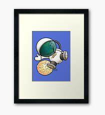 Cheese Zombies! Space Walker Zedd Framed Print