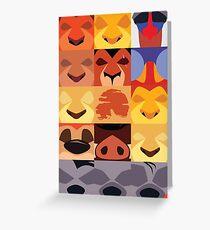 Minimalist Lion King Icons Greeting Card