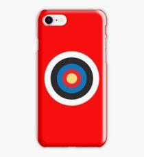 Bulls Eye, Target, Roundel, Archery, on Red iPhone Case/Skin