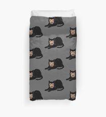 Vlad the Cat (Gray) Duvet Cover